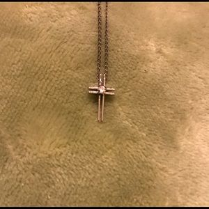 Jewelry - Vintage dainty 925 Sterling Silver chain and cross